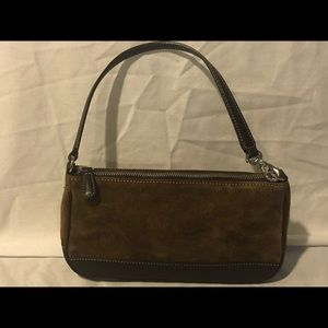 Coach suede and leather brown small bag